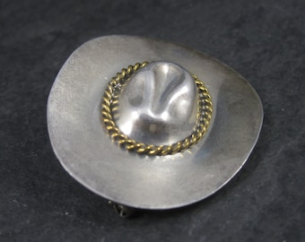 Vintage Mexican Sterling Cowboy Hat Brooch
