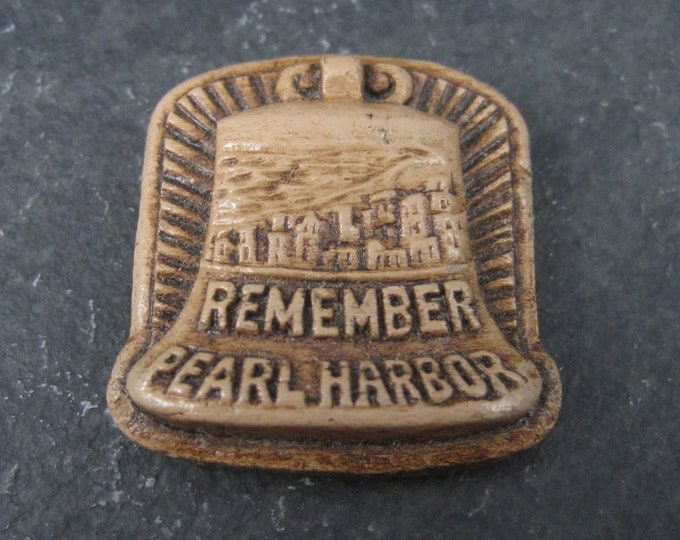 Vintage Remember Pearl Harbor Liberty Bell Pin