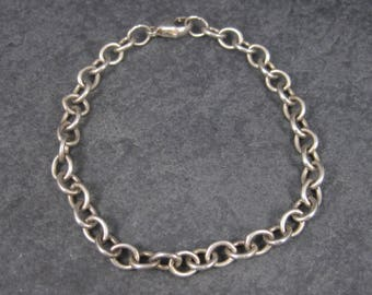 Vintage Sterling Chain Bracelet 8 Inches