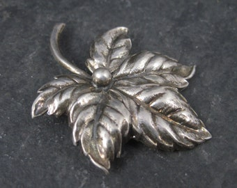 Vintage Beau Sterling Leaf Brooch