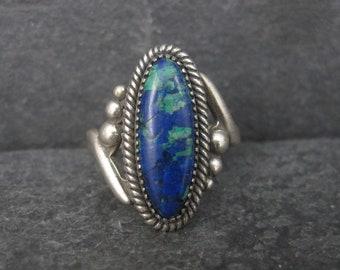 Vintage Southwestern Sterling Azurite Ring Size 6.25