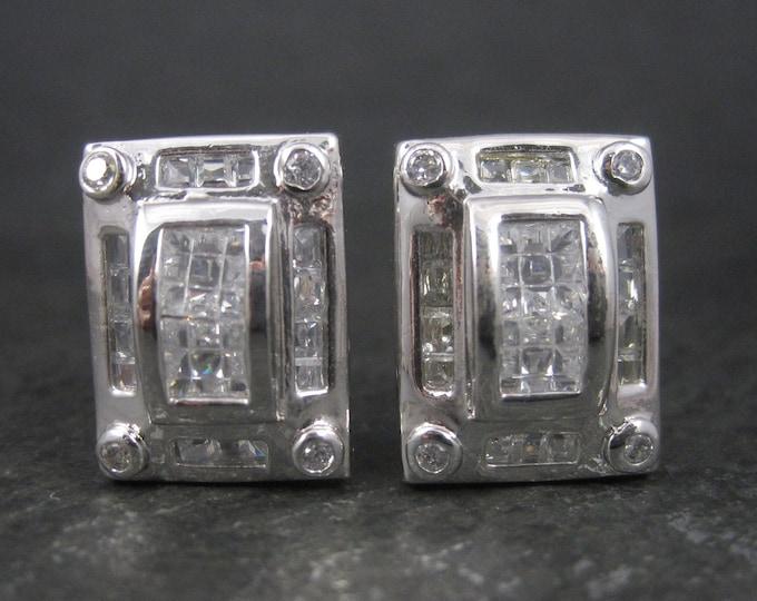 Large Sterling Quartz French Back Earrings