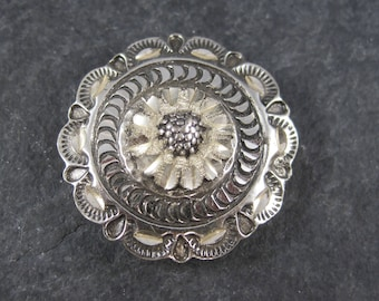 Vintage Black Hills Sterling Button Cover