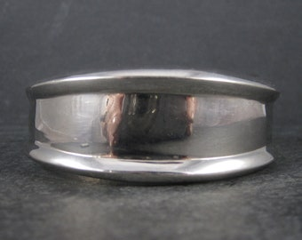 Wide 90s Sterling Silver Cuff Bracelet 7 Inches