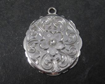 Vintage Lamode Sterling Floral Pendant Flocal