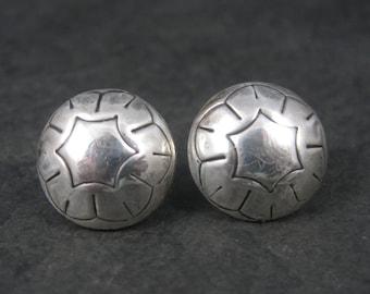 Vintage Southwestern Sterling Dome Earrings