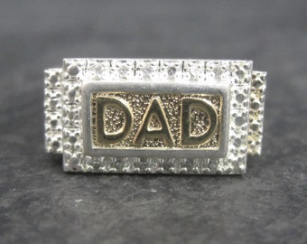 Vintage Sterling and Vermeil Dad Ring Size 11