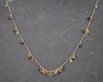 Vintage Vermeil Quartz Necklace 17-19 Inches