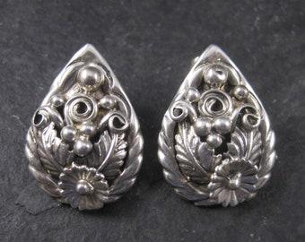 Vintage Navajo Sterling Floral Earrings