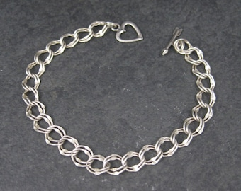 Sterling Silver Heart Toggle Bracelet 7 Inches