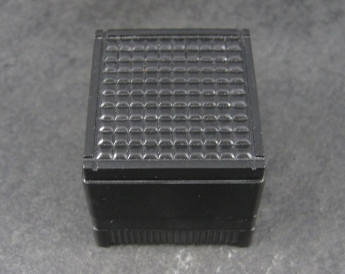 Vintage Deco Style Plastic Black Ring Box