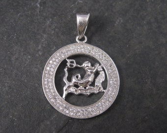 Sterling Zodiac Aquarius Pendant