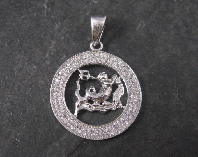 Sterling Zodiac Aquarius Pendant