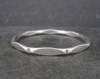 Heavy Vintage Sterling Bangle Bracelet 7.25 Inches