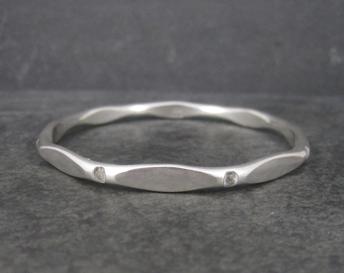 Heavy Vintage Sterling Bangle Bracelet 7.25 Inches