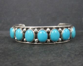 Vintage Southwestern Sleeping Beauty Turquoise Cuff Bracelet 5.5 Inches