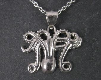 Vintage Sterling Octopus Pendant