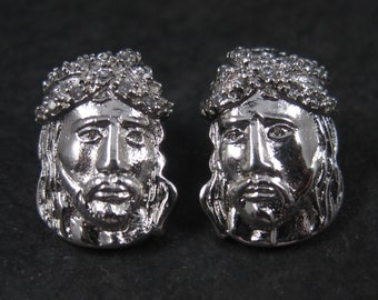 Vintage 90s Sterling Jesus Christ Earrings