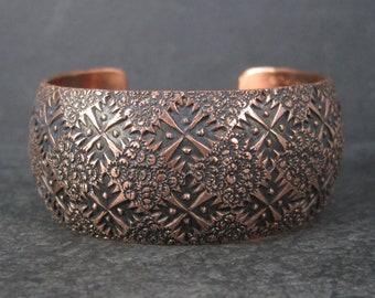 Vintage Navajo Copper Cuff Bracelet 6.75 Inches Dakota Willie