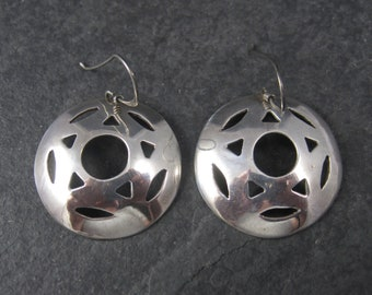 Vintage Southwestern Sterling Star Concho Earrings