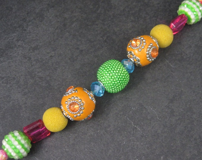 Jesse James Pink Green Orange Yellow Bead Strand 6043