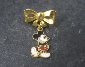 Vintage Licensed Disney Enamel Mickey Mouse Lapel Pin