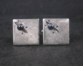 Vintage Shields Silver Hematite Cufflinks