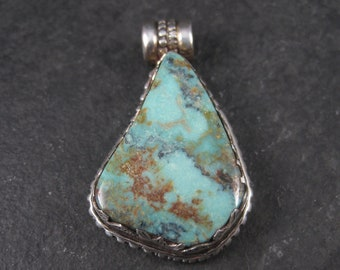 Vintage Southwestern Sterling Turquoise Pendant
