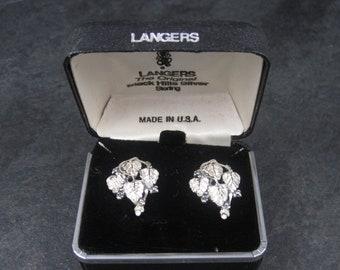 Vintage Langers Black Hills Sterling Silver Leaf Earrings