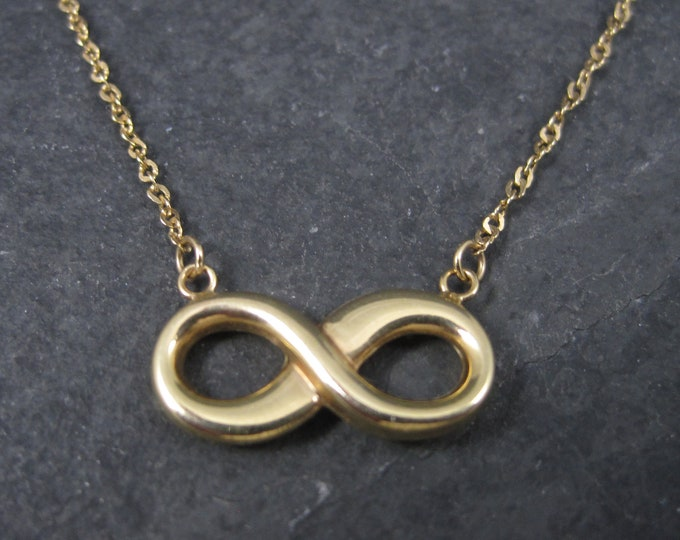 Vintage 10K Infinity Necklace 16 Inches