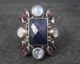 Nicky Butler Lapis Moonstone Rhodolite Garnet Ring Limited Edition Size 8