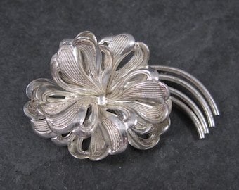 Vintage Sterling Forstner Flower Brooch