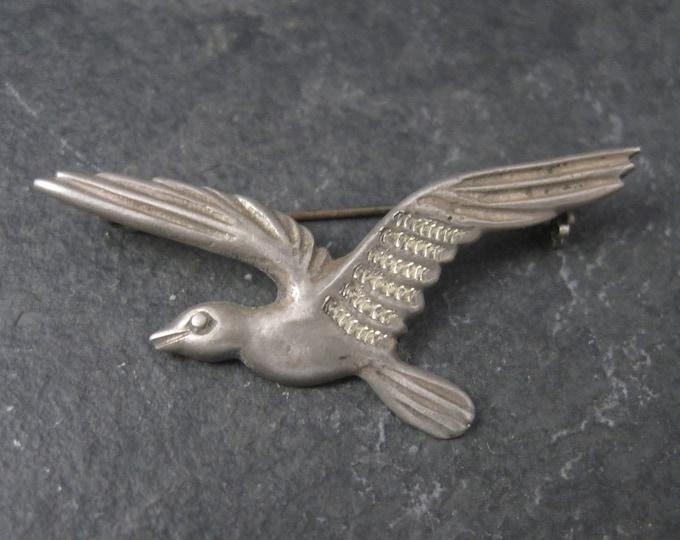 Vintage Mexican Silver Bird Brooch Pin