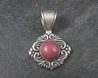 Vintage Sterling Rhodochrosite Pendant