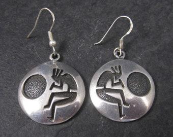 Vintage Sterling Kokopelli Dangle Earrings