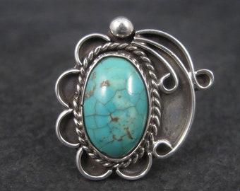 Large Vintage Southwestern Turquoise Ring Size 9