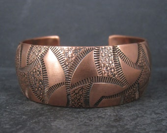 Vintage Navajo Copper Cuff Bracelet 7 Inches Dakota Willie