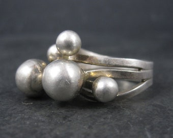 Huge Mexican Sterling Mod Bubble Sphere Ring Size 9