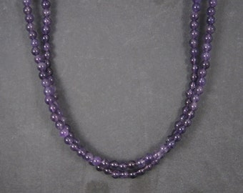 Vintage Sterling 2 Strand Amethyst Necklace Desert Rose Trading