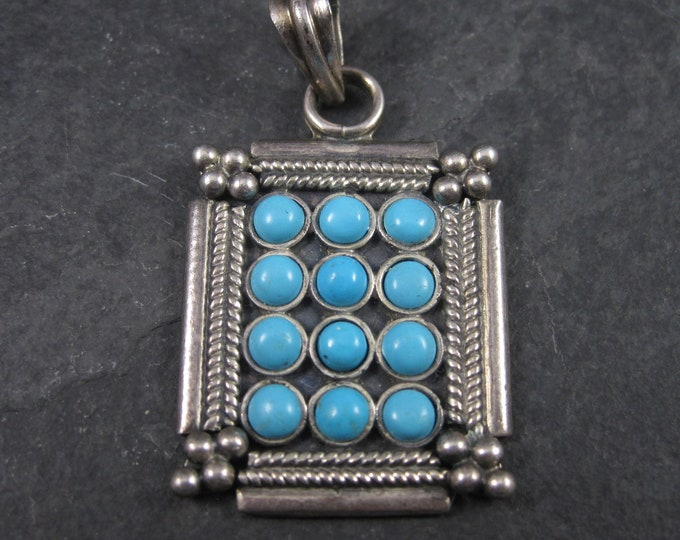 Vintage Sterling Faux Turquoise Pendant