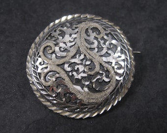 Vintage Black Hills Sterling Brooch