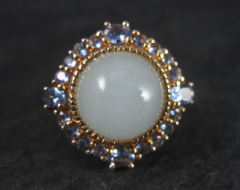 Vermeil Sterling Quartz Tanzanite Ring Size 7