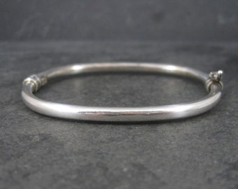 Vintage Italian Sterling Clasped Bangle Bracelet 7 Inches