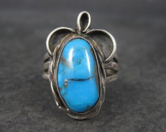 Vintage Southwestern Sterling Turquoise Ring Size 7
