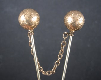 Victorian Gold Filled Cloak Fur Stick Pins