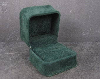 Green Suede Engagement Ring Box