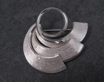 Vintage Sterling Swirl Brooch Pin Dolan Bullock