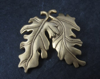 Vintage Danecraft Gold Tone Leaf Brooch