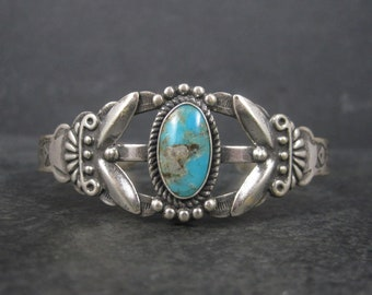 Vintage Maisels Southwestern Sterling Turquoise Cuff Bracelet 6.25 Inches