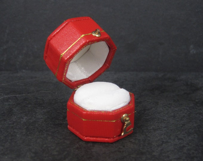 Vintage Style Red Engagement Ring Box
